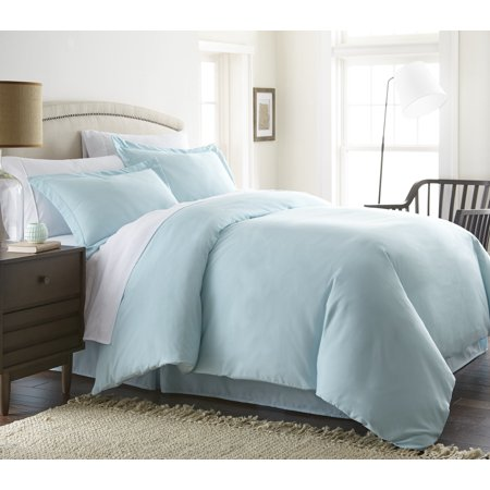 Noble Linens Premium Ultra Soft 3 Piece Solid Duvet Cover (Blue Full Duvet)