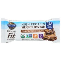 Garden Of Life Protein, Organic Fit Weight Loss Bar,Peanut Butter Chocolate, 1.9 Oz, Pack Of 12