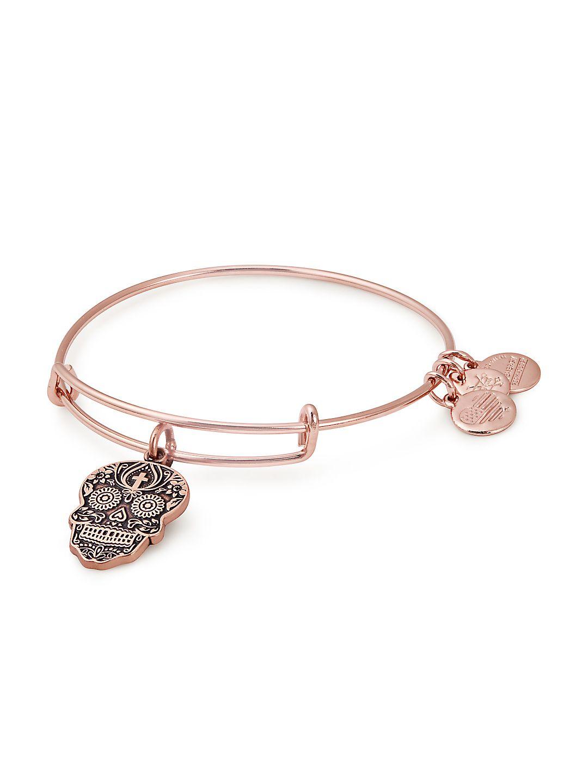 Holiday Calavera Charm Bangle Bracelet