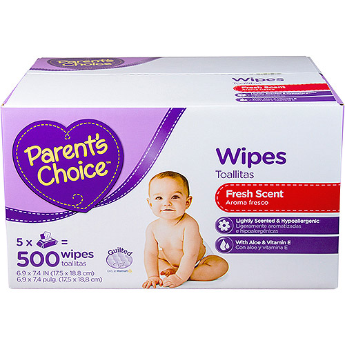 Parent's Choice Fresh Scent Baby Wipes, 500 sheets