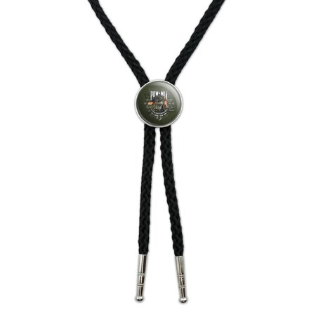 POW MIA Army Motorcycle Bike Bring Them Home Western Southwest Cowboy Necktie Bow Bolo Tie (Motorcycle Tin)