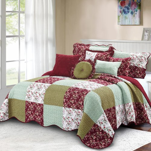 Serenta Patchwork 8 Piece Quilt Set