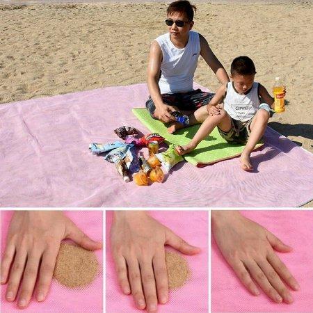 Waterproof Pink Large Sandless Beach Mat / Blanket Sand Free Camping Picnic Rug, 79