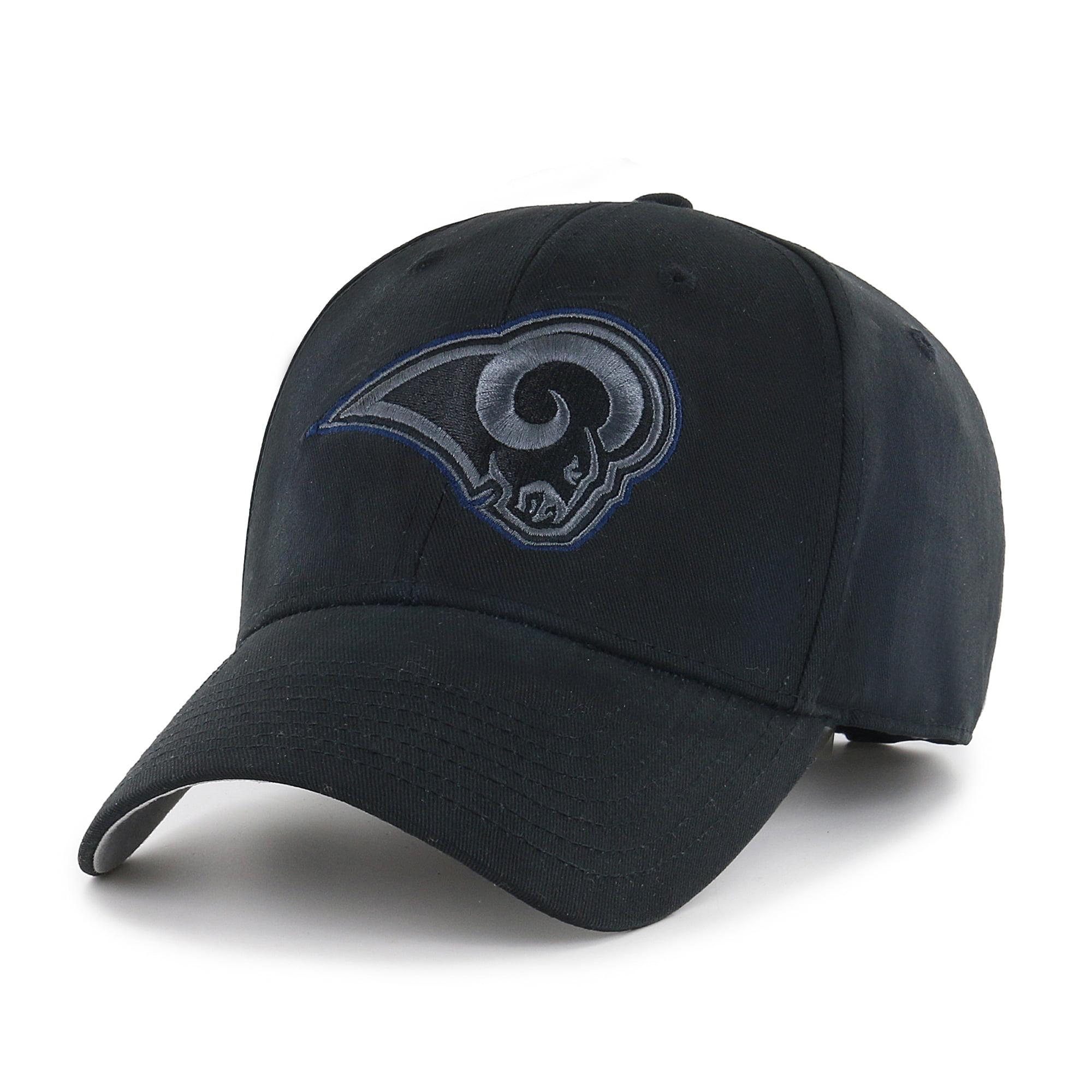 NFL Los Angeles Rams Black Mass Basic Adjustable Cap/Hat by Fan Favorite