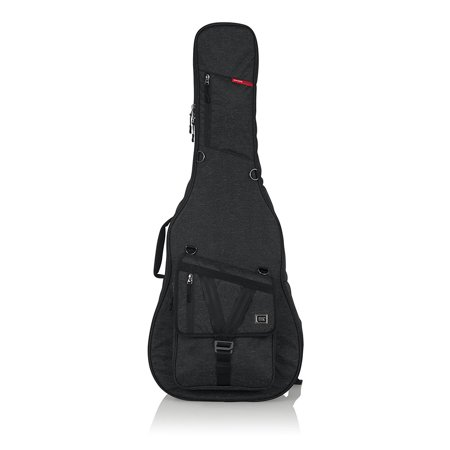 Gator GT-ACOUSTIC-BLK Transit Series Acoustic Guitar Gig Bag - Charcoal Acoustic Guitar Bag Series