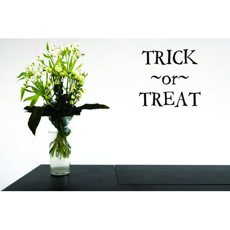Living Room Art Trick Or Treat Halloween Holiday Quote 12x12 Inches - Qoutes About Halloween