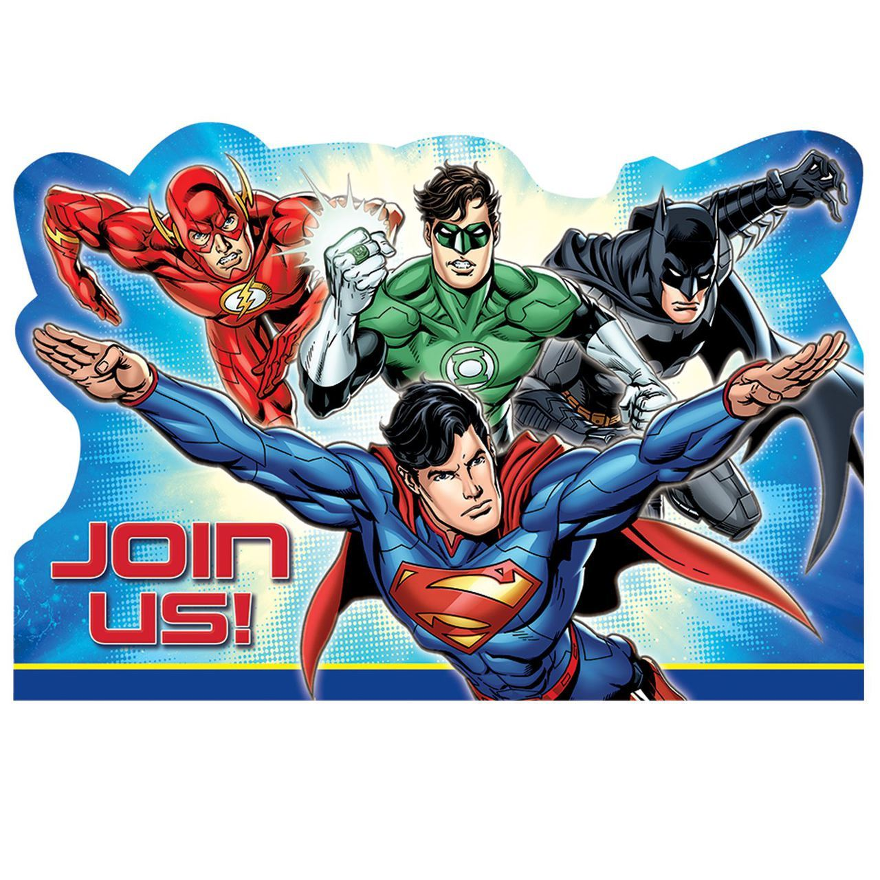 DC Justice League Superhero Birthday Party Invitation 16 Count Save The Date