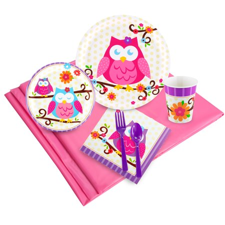 Owl Blossom Party Pack for 24 - Owl Birthday Party Supplies