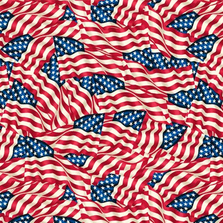 Windham Fabrics 108 Inch Wide Quilt Back Red White And Blue Waving (Wide Quilt Fabric)