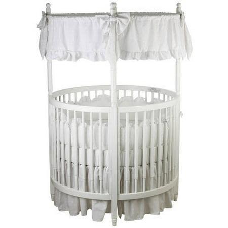 Dream On Me Sophia Posh Circular Crib White