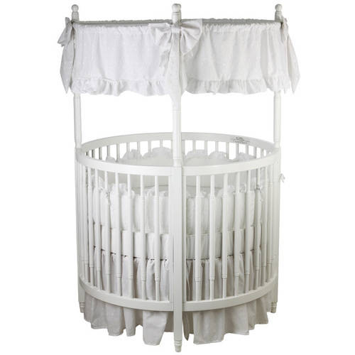 Dream On Me Sophia Posh Circular Crib, White