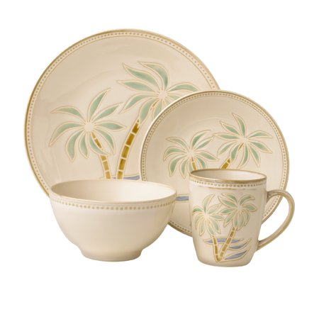 Pfaltzgraff Everyday Palm 16 Piece Dinnerware Set
