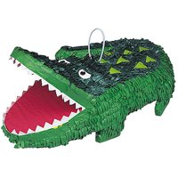 Alligator Party Pinata, 18 x 13 in, Green, 1ct