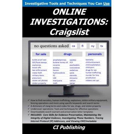 Online Investigations  Craigslist
