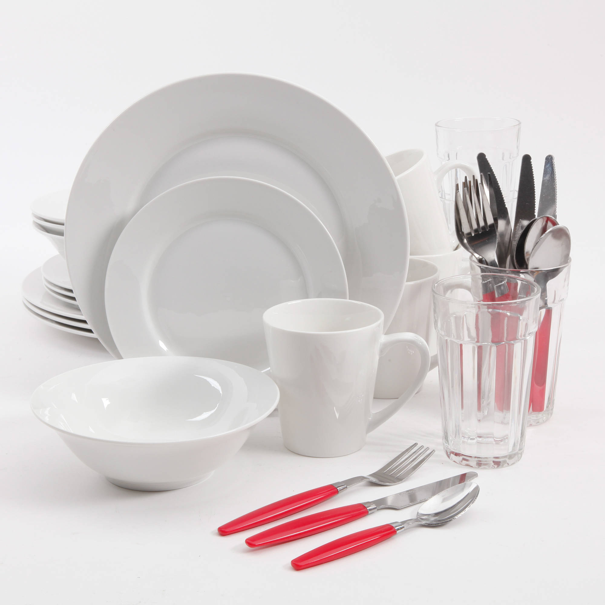 Gibson Home Regal White II 32-Piece Dinnerware Combo Set, White