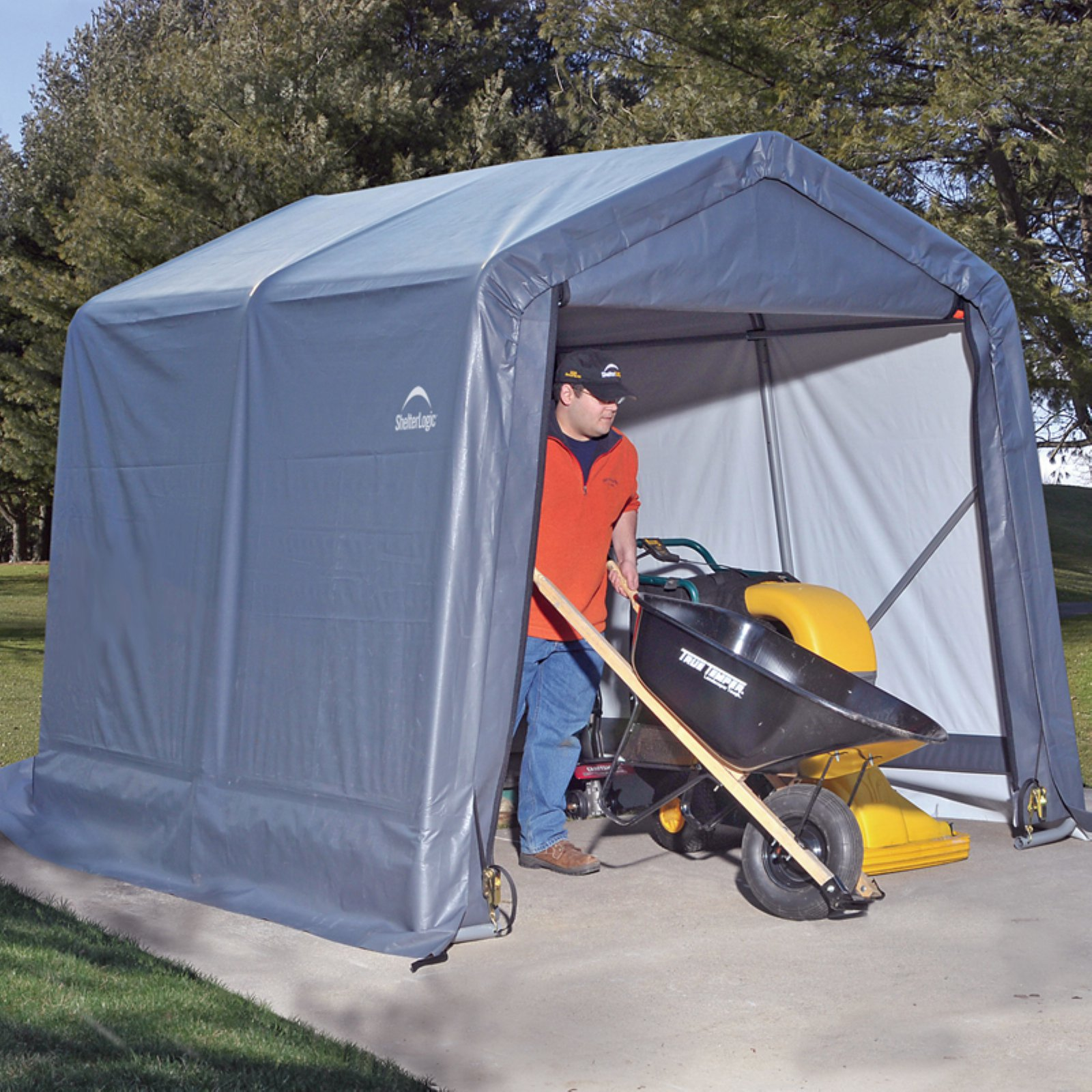 8' x 16' x 8' Peak Style Shelter, Green