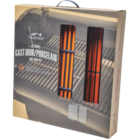 TRAEGER PELLET GRILLS LLC 22 Series Cast Iron Grill Grate Upgrade Kit BAC366 ()