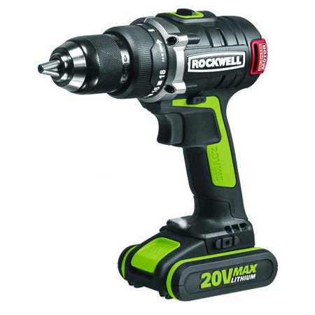 Rockwell Rk2852k2 20V Max Cordless Lithium Ion 1 2 In  Brushless Drill Driver Kit