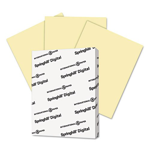"Springhill Copy & Multipurpose Paper - For Inkjet, Laser Print - Letter - 8.50"" X 11"" - 90 Lb - Smooth - 1 Pack - Canary (035100)"