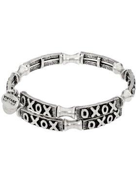 Alex And Ani XO Wrap Silver One Size Bracelet V18W02RS