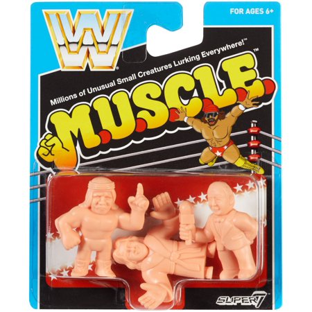 Ric Flair, Iron Sheik & Mean Gene Okerlund - WWE M.U.S.C.L.E. 3-Pack Toy Wrestling Figures](Ric Flair Robe)