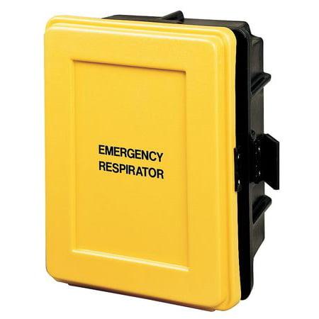 ALLEGRO 4500 Respirator Wall Case,Black/Yellow