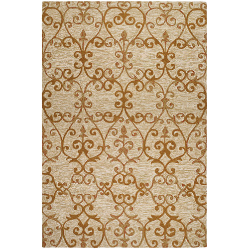 Couristan Fresco Estates Hooked Courtron Rug, Sand and Citrine
