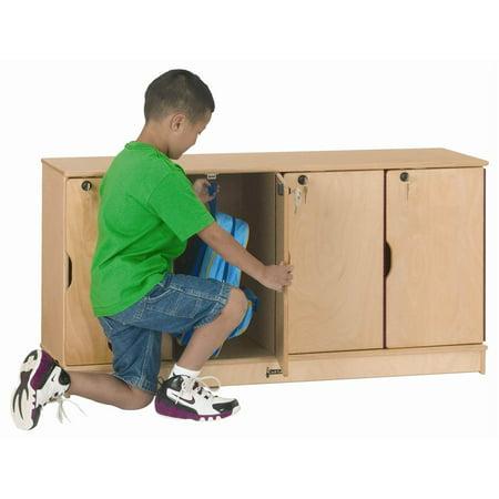 Jonti Craft 4 Section Single Stacking Lockable Lockers
