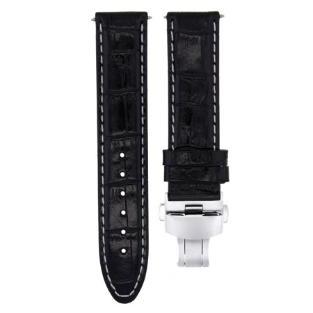a94b3731070 Ewatchparts - 20MM LEATHER WATCH STRAP BAND CLASP FOR 36MM ROLEX DATEJUST
