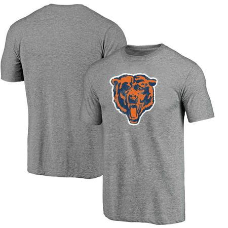 - Chicago Bears NFL Pro Line Throwback Logo Tri-Blend Short Sleeve T-Shirt - Gray