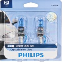 Philips Crystalvision Ultra Headlight H3, Pk22S, Glass, Always Change In Pairs!