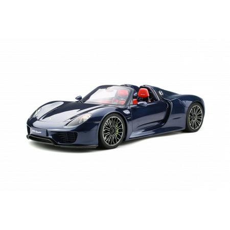 Porsche 918 Spyder Coupe Dark Blue 1 12 Model Car By Gt Spirit