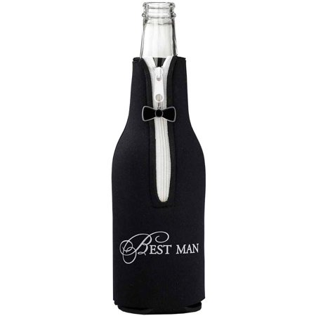 Lillian Rose Best Man Bottle Cozy, Black