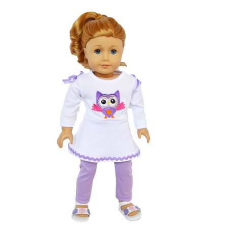 White Owl Girl (Owl Outfit for American Girl Dolls and My Life as Dolls- 18 Inch Doll Clothes- Doll and shoes are not)