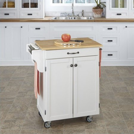 Home Styles White Kitchen Cart - image 2 de 2