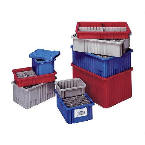 Quantum Storage Dividable Grid Storage Containers (3 1/2'' H x 10 7/8'' W x 16 1/2'' D) (Set of 12)