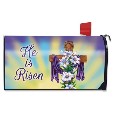 Easter Cross Religious Magnetic Mailbox Cover Holiday Lilies Briarwood Lane
