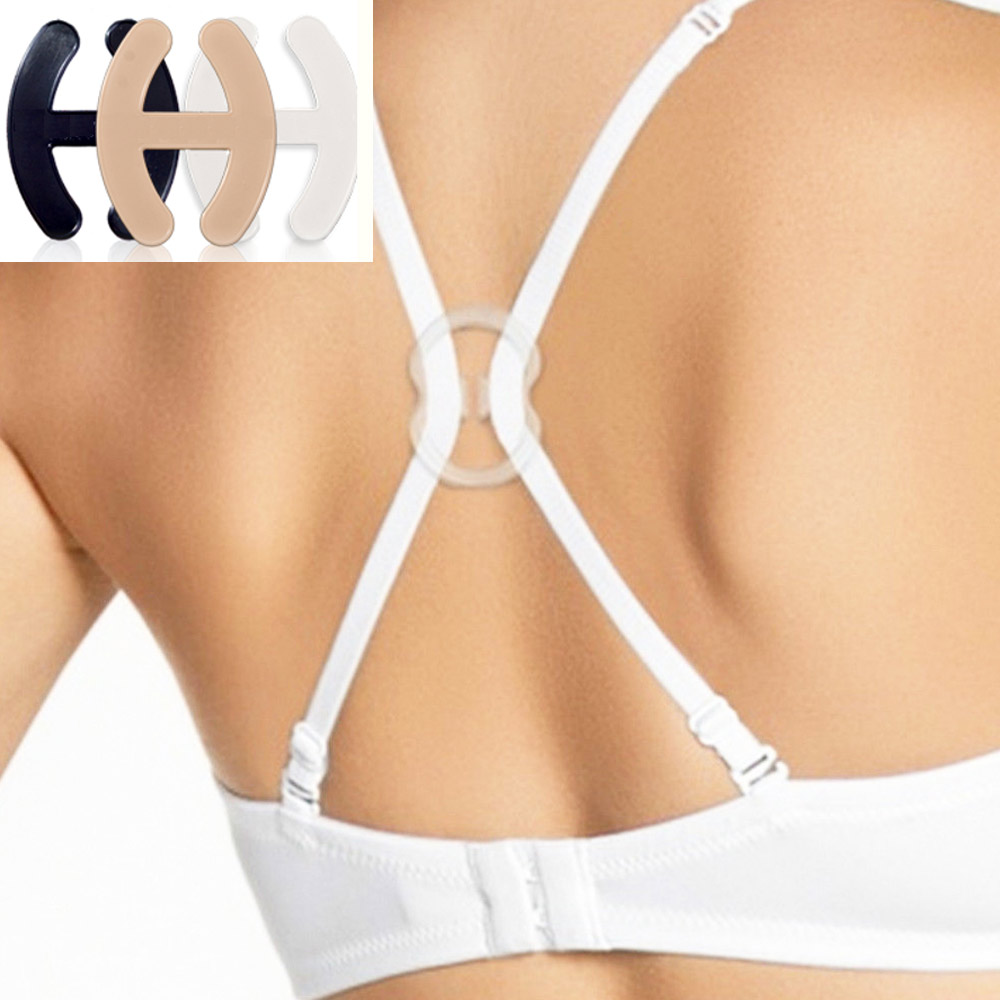 9Pc Bra Clips Perfect Lift Adjust Clasp Strap Cleavage Control Racerback Buckle