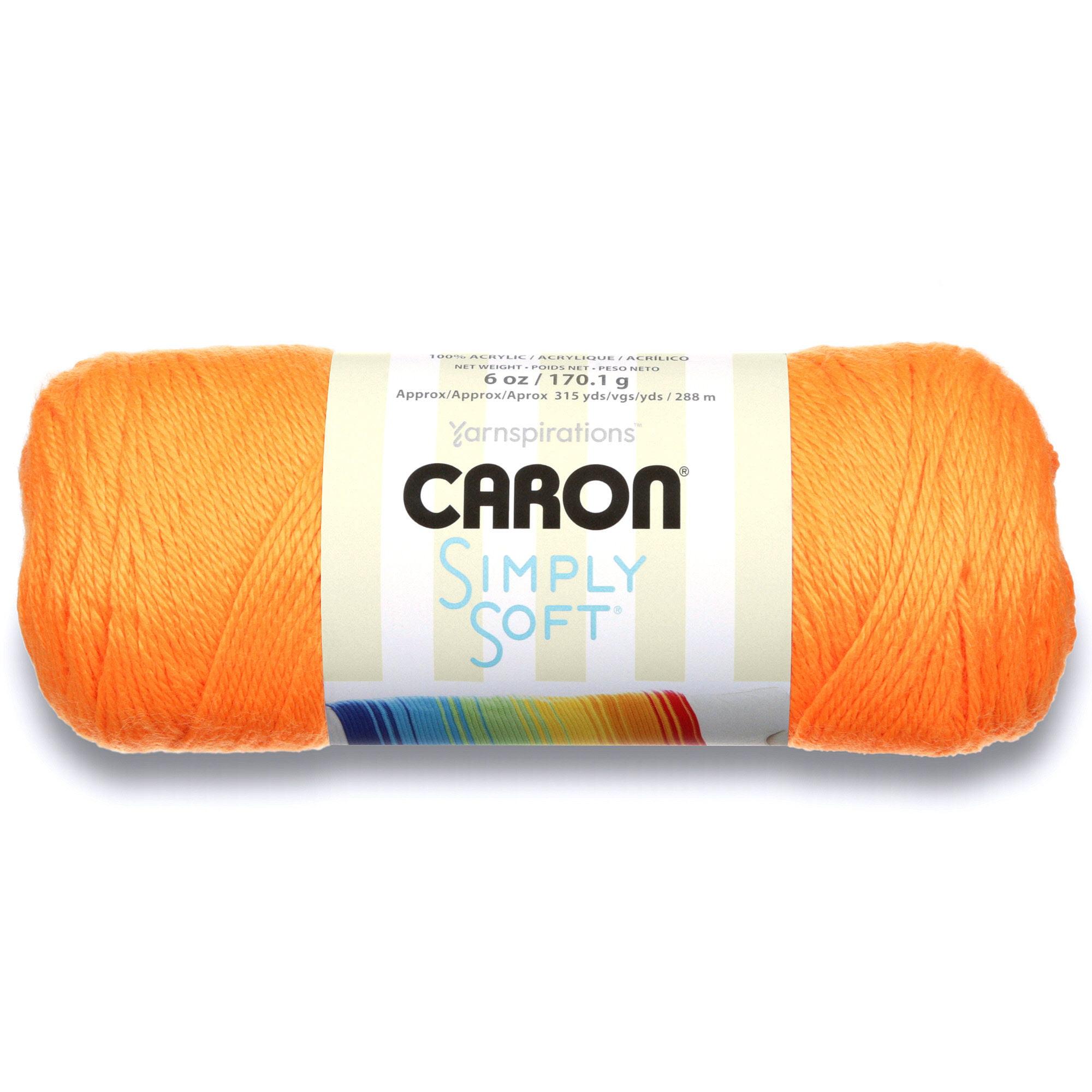 Caron Simply Soft Yarn, Neon Orange