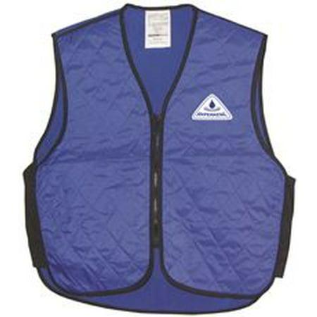 Belle Vest - Hyperkewl Evaporative Sport Cooling Vest, Blue, Large