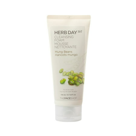 THE FACE SHOP Herb Day 365 Cleansing Foam Mung (The Face Shop Herb Day Cleansing Cream)