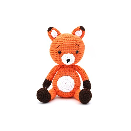Tiko Fox Handmade Amigurumi Stuffed Toy Knit Crochet Doll VAC