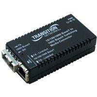 Transition Networks M/GE-PSW-LX-01-NA Transition Networks 10/100/1000BaseTX to 1000BaseLX Media Convertor - 1 x RJ-45 , 1 x SC - 10/100/1000Base-T, 1000Base-LX