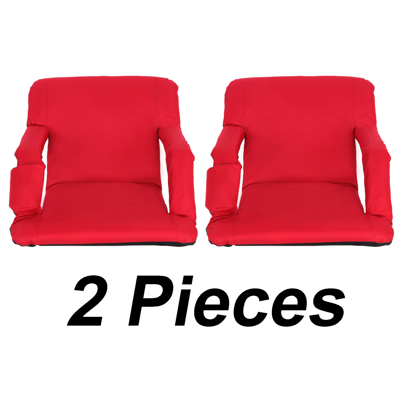 Zeny 2 Pieces Wide Stadium Seats Chairs for Bleachers Benches 5 Reclining Positions by