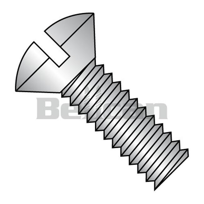 Shorpioen 1436MSO188 0.25-20 x 2.25 Slotted Oval Fully Threaded Machine Screw - 18-8 Stainless Steel - Box of 500 - image 1 of 1