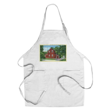Providence, Rhode Island - Roger Williams Park View of Betsy Williams Cottage (Cotton/Polyester Chef's Apron) - Roger Williams Park Halloween