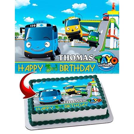 Tayo the Little Bus Edible Image Cake Topper Personalized ...