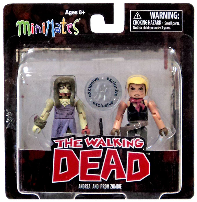 The Walking Dead Minimates Series 7 Andrea and Prom Zombie Minifigure 2-Pack