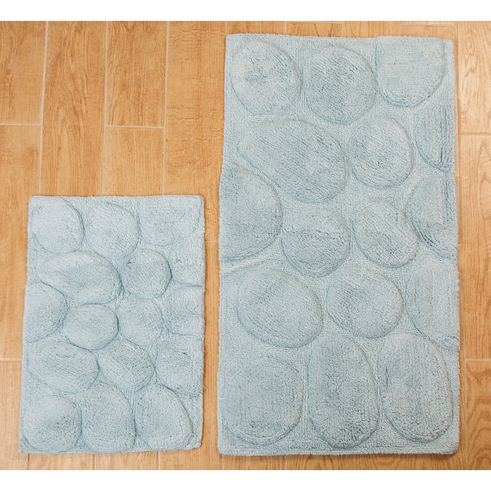 Elegance Collection Palm Bath Rug - Set of 2