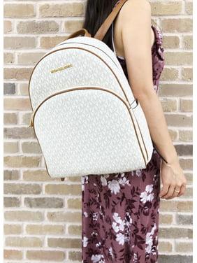 43fc4f58365d Product Image Michael Kors Abbey Large Backpack Vanilla MK Signature PVC  Leather 2018 Fall